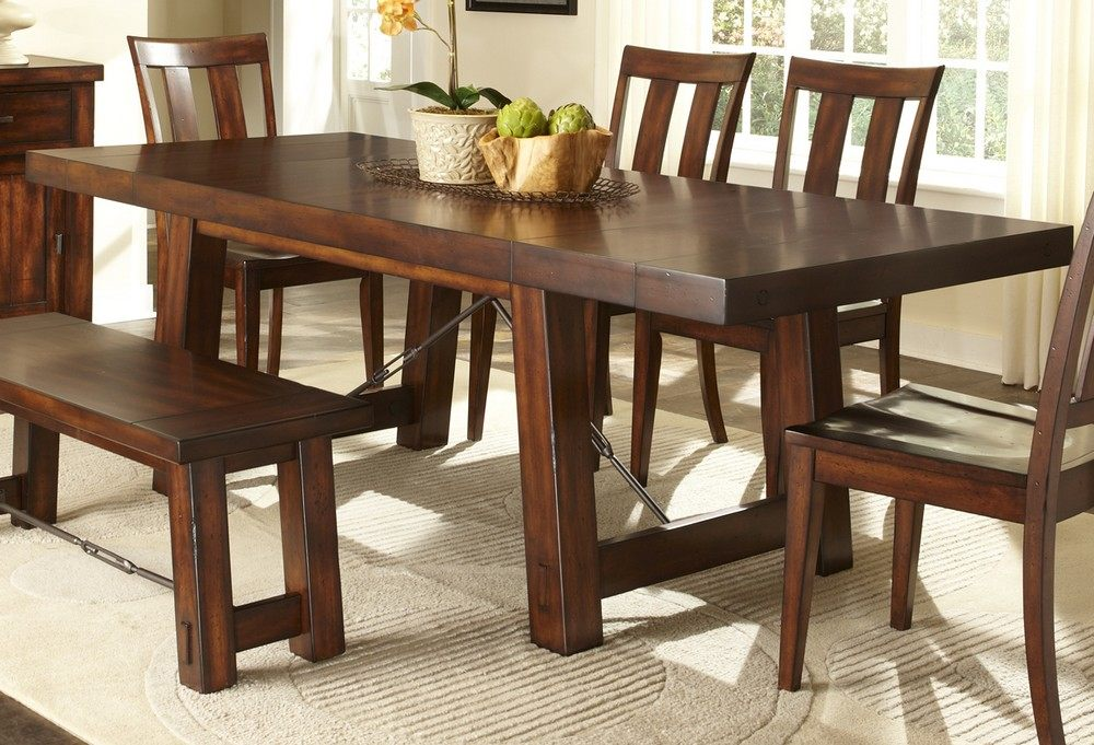 Awesome dinette sets with bench homesfeed for Small dining set with bench