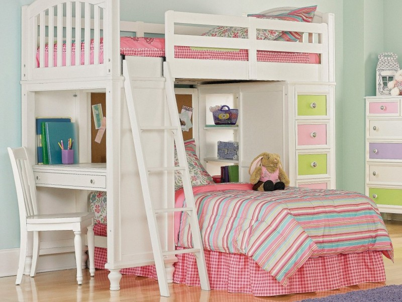 Girls Loft Bed With Desk: Design Ideas And Benefits