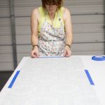 Giving pressure sensitive styrene on fabric