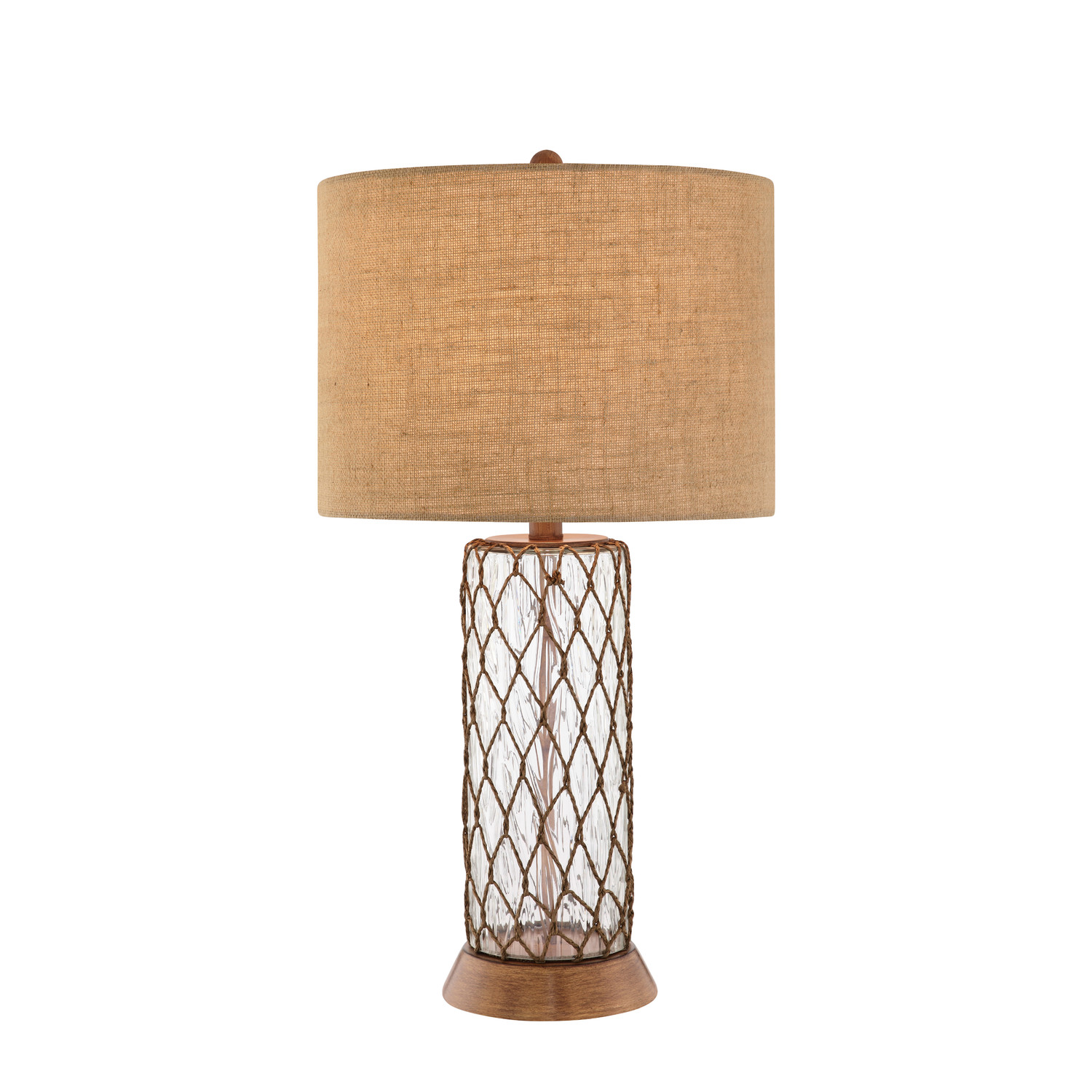 Glass And Rope 3 Way Table Lamps
