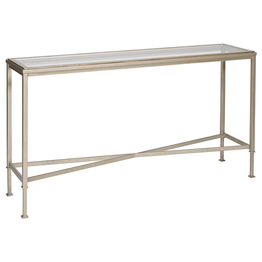 Glass Narrow Shallow Console Table