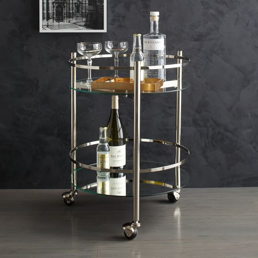Round Bar Cart Design Options For Serving Drinks Homesfeed