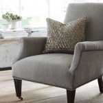 Grey Accent Chair With Pillow Of Pottery Barn Manhattan Sofa