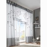 Grey And White Ikea Patterned Curtains