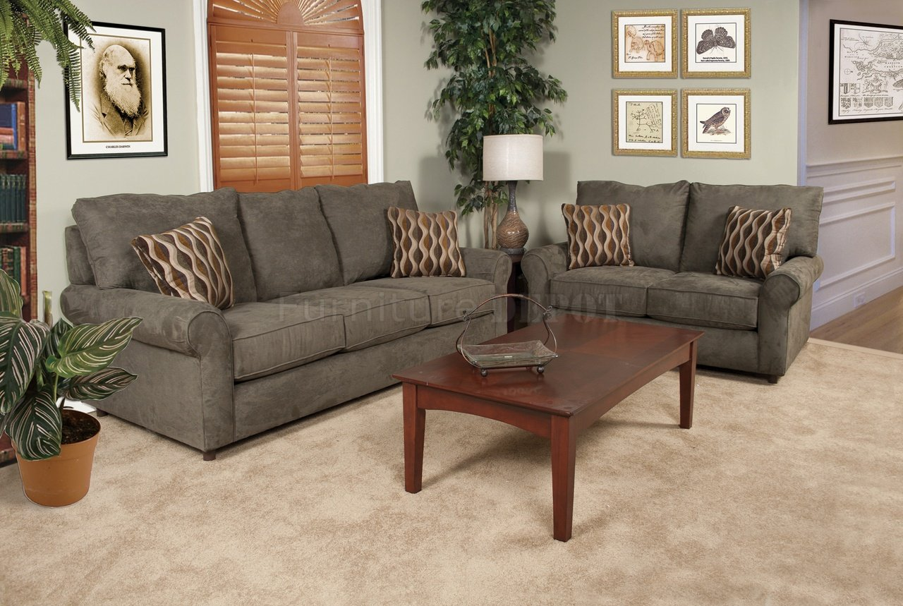 Awesome couch and loveseat sets homesfeed Loveseats with console