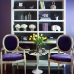 Home Furnishing Catalogs For Purple Double Chair White Table And Racks