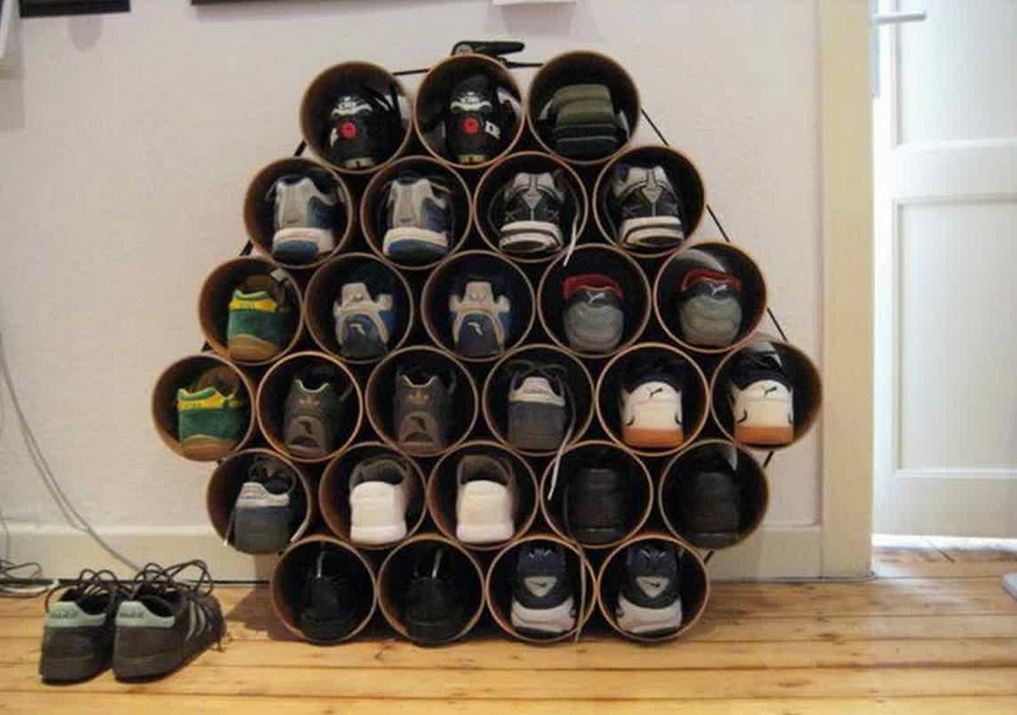 Shoe holder ikea designs and pictures homesfeed - Shoe storage ideas small space image ...