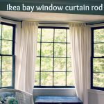 Ikea White Curtains And Curtain Rods For Bay Windows