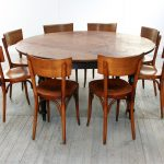 Industrial Design Style For Wooden 8 Person Round Dining Table
