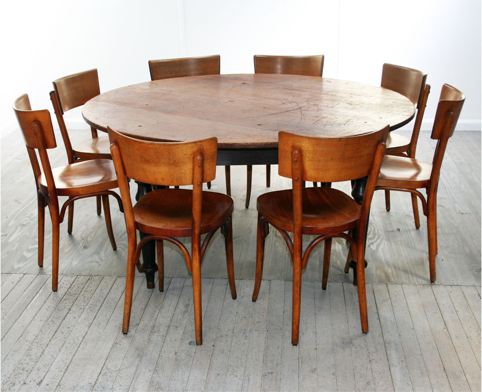 Perfect 8 person round dining table homesfeed for Circular dining table