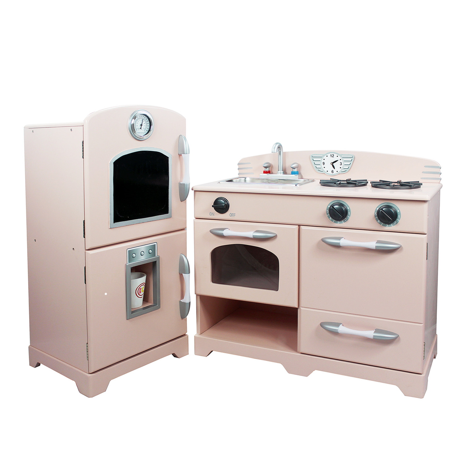 Good wood play kitchen sets homesfeed for Kitchen setting pictures