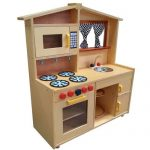Kids kitchen toy made of lightweight wood