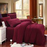 King size bed comforter set in deep purple