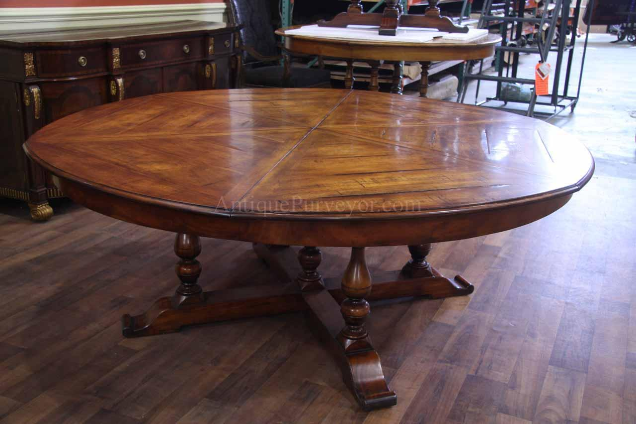 8 person round dining table