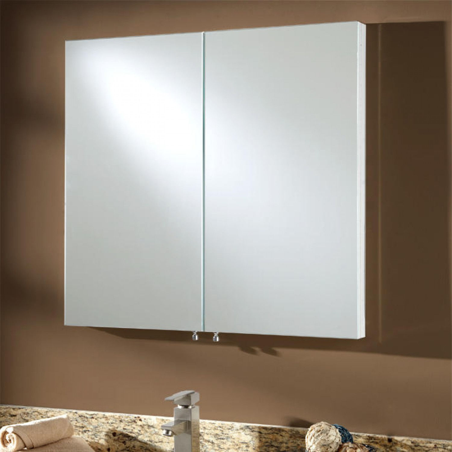 Large Recessed Medicine Cabinet No Mirror With Two Doors