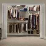 Large closet organizer Lowe with sliding white door