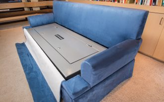 Large secret box idea for valuable things under sofa