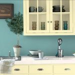 Light blue paint idea for kitchen wall white kitchen cabinet system