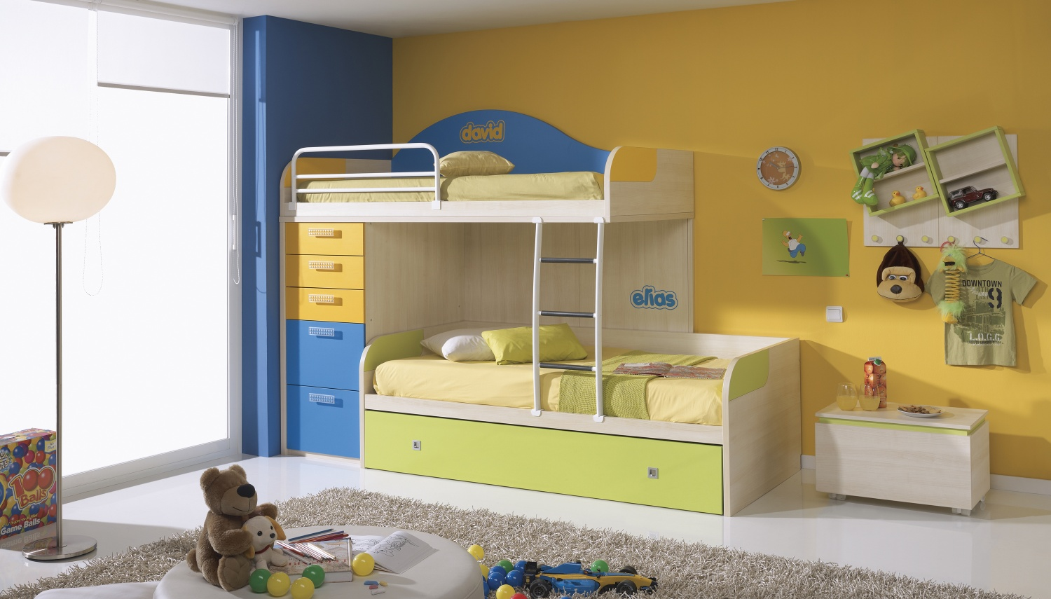 Loft Bed Idea For Toddler With Built In Ladder Tall Drawer System And Under Storage Small
