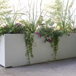 Long White Large Planters For Outdoors
