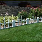 Low profile decorative fencing system in white for mini garden