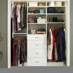 Lowe's closet organizer idea in white