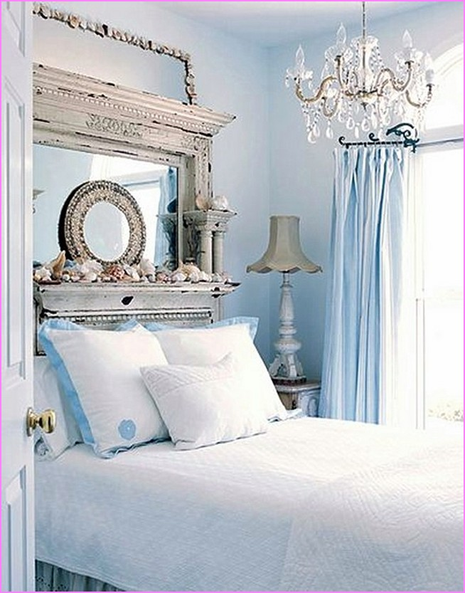 Beachy Bedroom Ideas   HomesFeed Luxurious victorian bedroom decor idea with beach theme cool shabby white  vanity mirror over bed white. Beachy Bedroom Ideas. Home Design Ideas