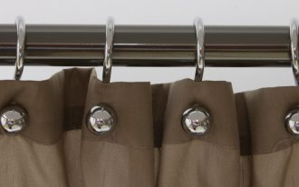 Metal Ball Shower Curtain Hooks Silver