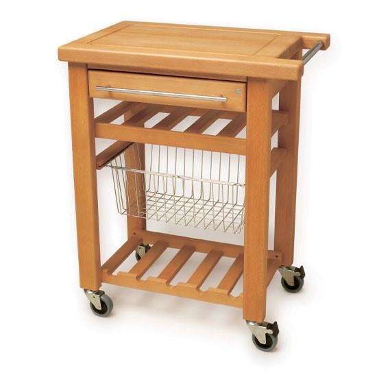 Butcher Block Kitchen Carts Wheels : Get Practical and Movable Carts with Butcher Blocks on Wheels HomesFeed