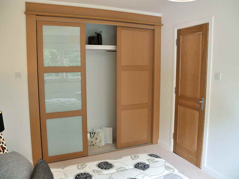 Superior Mirrored Wooden Bifold Closet Doors