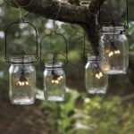 Mix modern vintage Manson Jar string lights for outdoor
