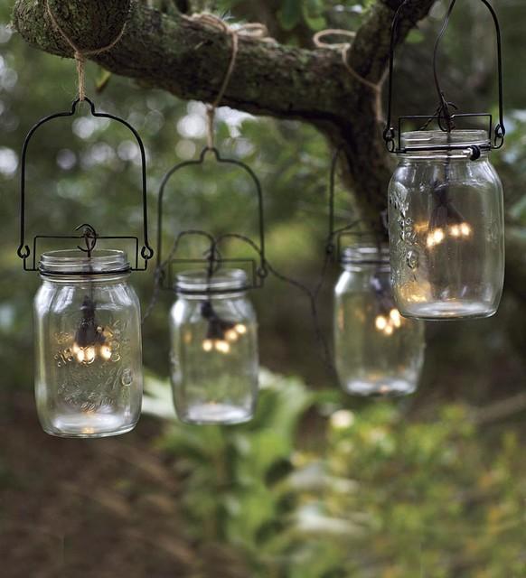 Great Mix Modern Vintage Manson Jar String Lights For Outdoor