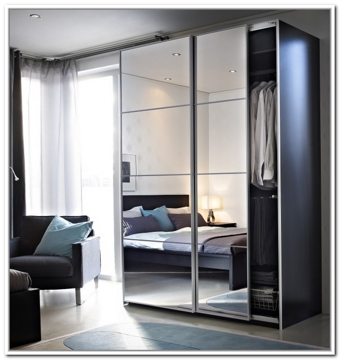 Folding closet doors ikea roselawnlutheran - Ikea armoire with mirror ...