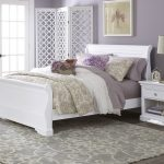Modern Sleigh bed idea in white with lower footboard and less curved headboard