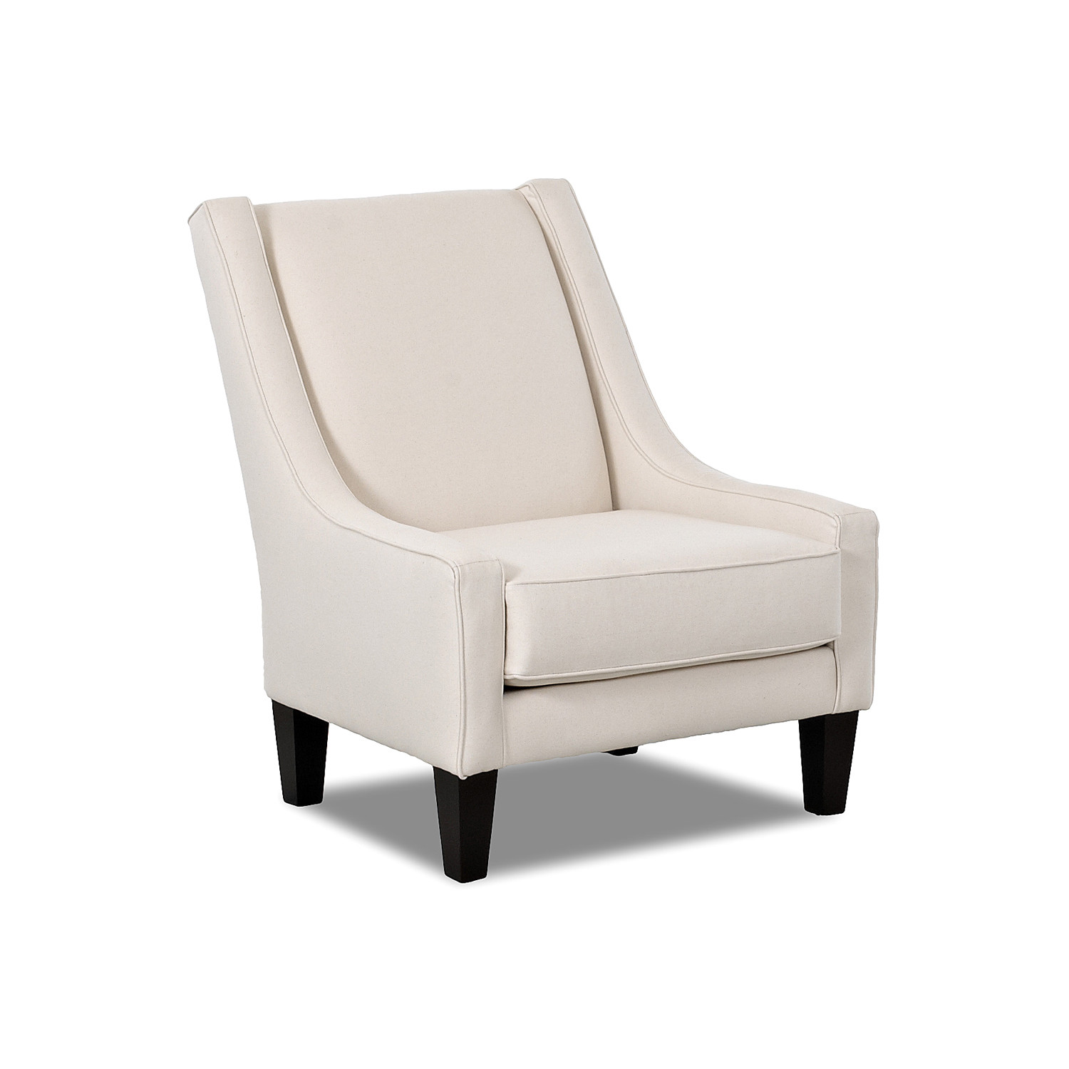 Modern White Upholstered Slipper Chair