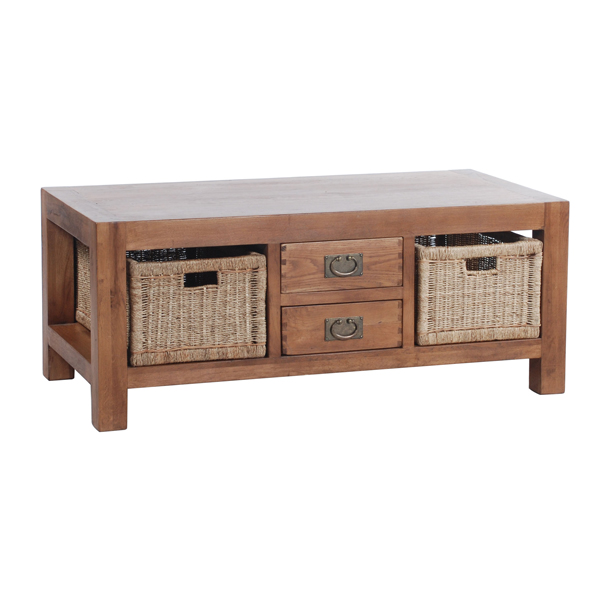 Inspiring designs of coffee table with baskets homesfeed Coffee table baskets
