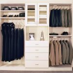Modern white closet organizer from Lowe