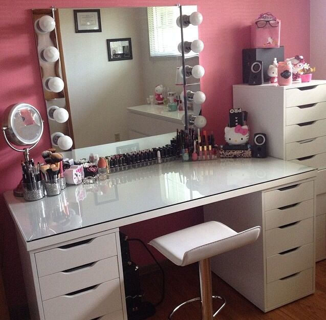makeup vanity with chair. Modern white vanity chair with low profile backrest and chrome leg makeup  clear Newest Selections of Makeup Vanity Chair HomesFeed