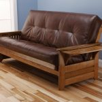 Most Comfortable Futons With Wooden Frame And Leather Style