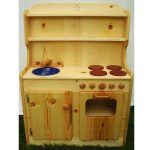 Natural Wood Play Kitchen Sets