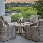 Outdoor Furniture Of Kingsley Bate Sag Harbor With Wooden Round Table