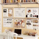 Perfect Wall Organizers For Home Office For Calendar And Tools Above White Desk And Chair