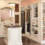 Perfect Wooden Closet Storage Cabinet With Pretty Chandelier