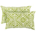 Pretty Green White Pattern Of Stratford Home Pillows