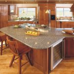 Quartzite Countertops Pros and Cons On Kitchen Island With Wooden Kitchen Set And Chairs