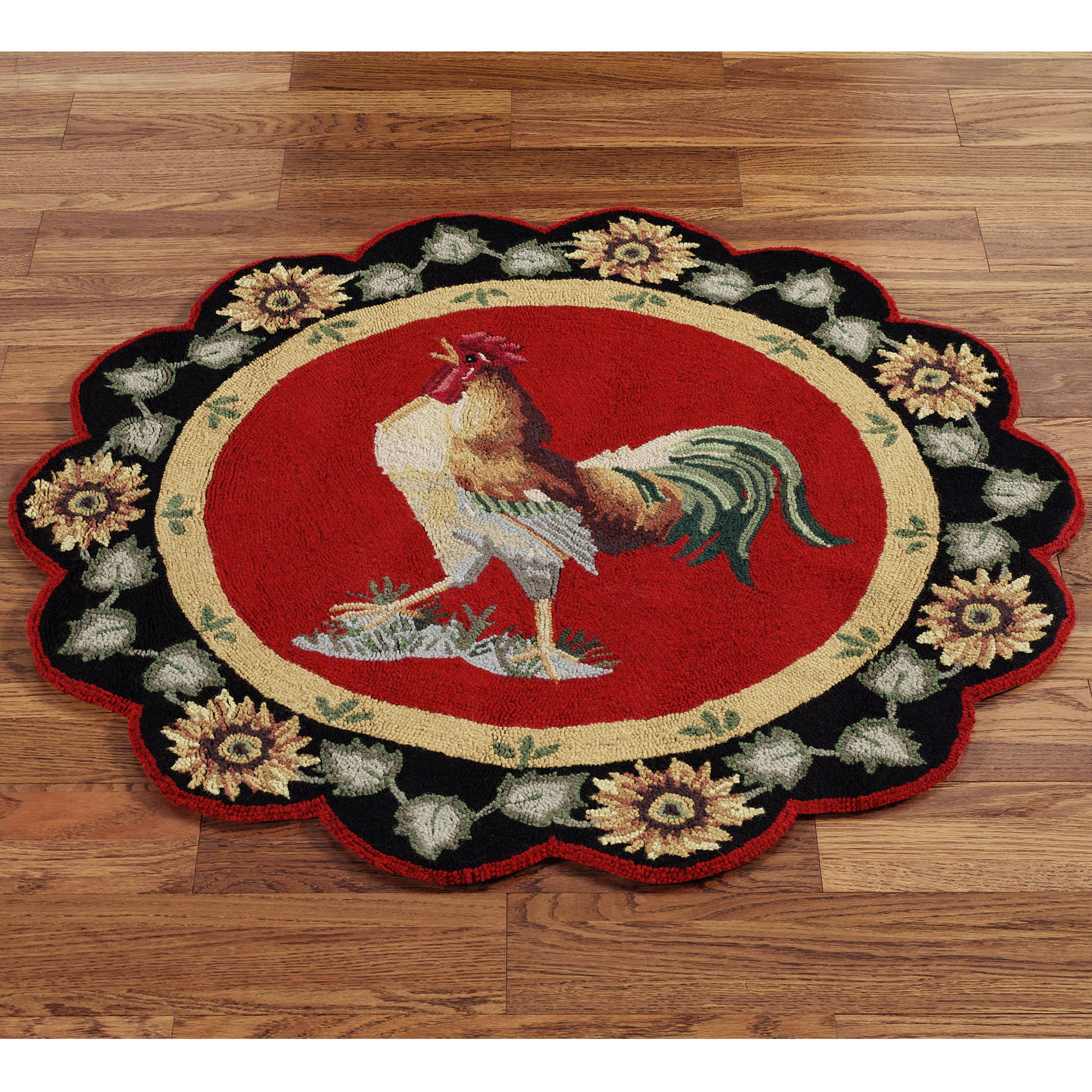 Round Rooster Kitchen Rugs - Kitchen Design Ideas