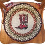 Round jutted chair pad idea in country theme