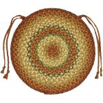 Round shaped country chair pad for dining chair