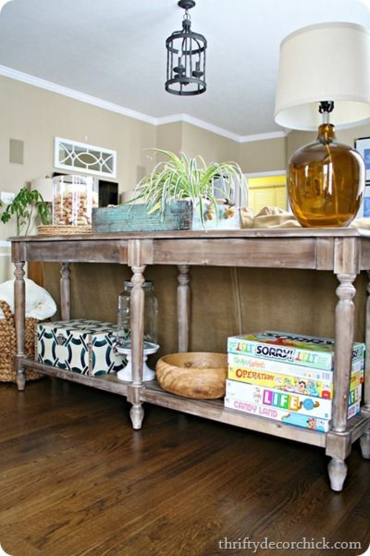 Cool extra long sofa table homesfeed for Long console table behind couch