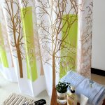 Shower Ikea Patterned Curtains With Tree Design